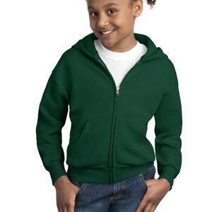 Youth EcoSmart ® Full Zip Hooded Sweatshirt Thumbnail